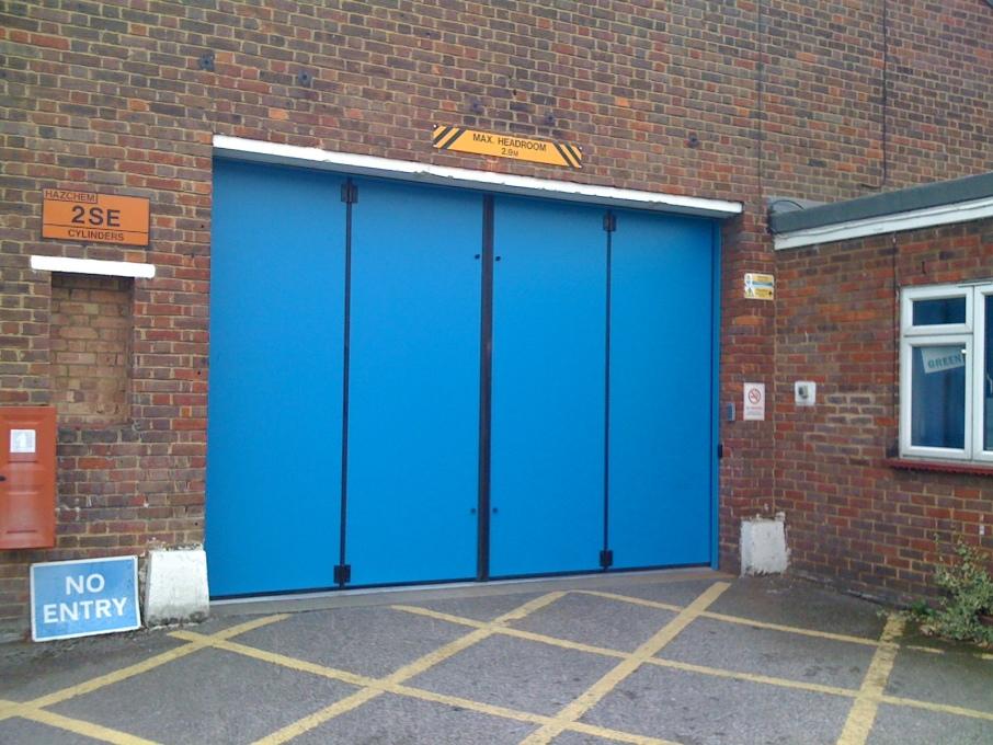 rollashield industrial sliding folding doors armashield